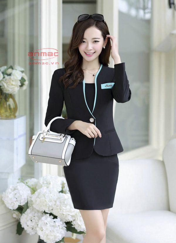 đồng phục vest nữ công sở Anmac Việt Nam