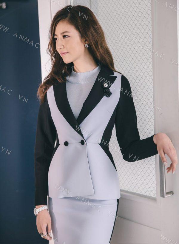 đồng phục áo vest nữ công sở
