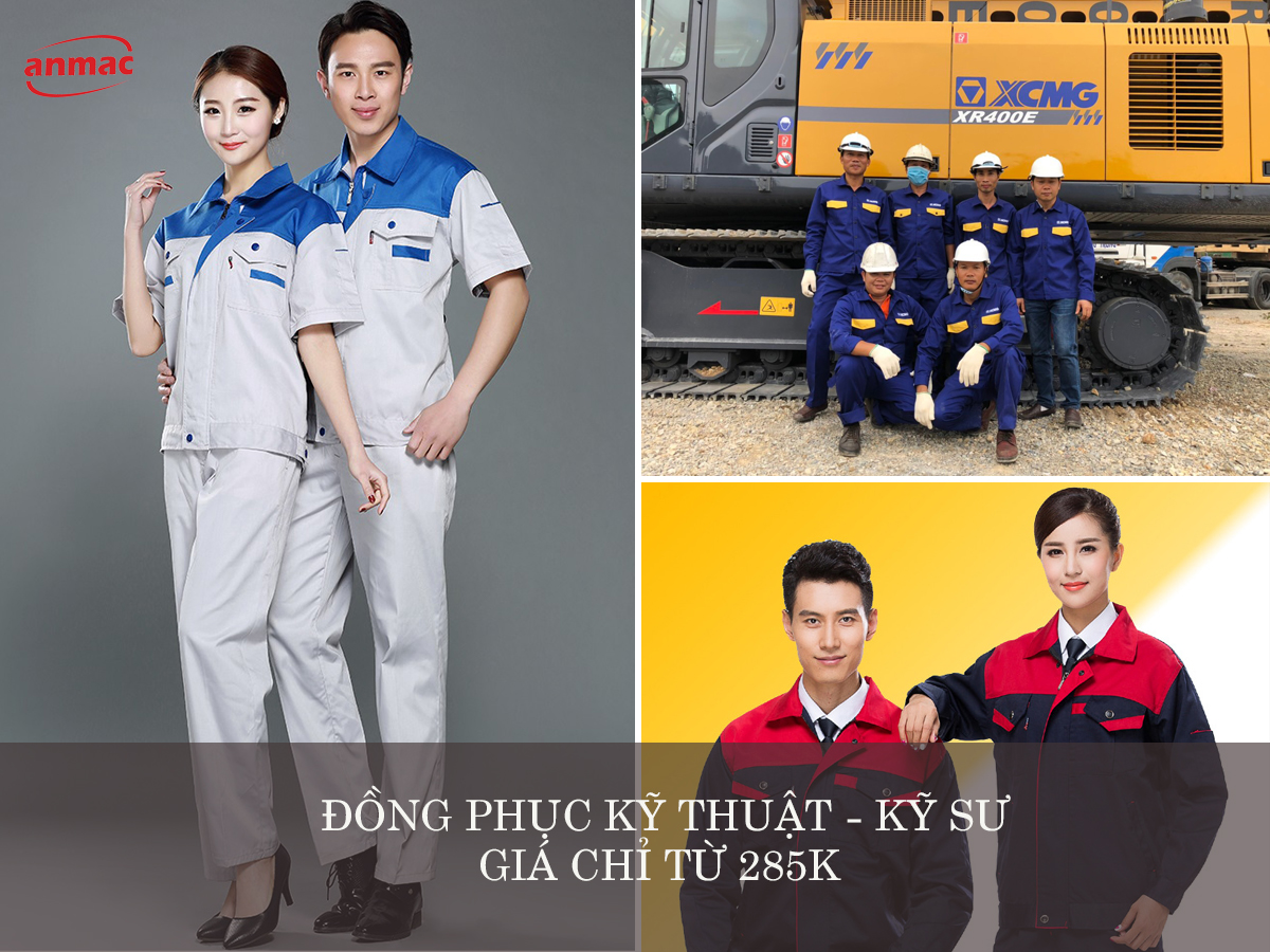 đồng phục bảo hộ lao động kỹ thuật kỹ sư