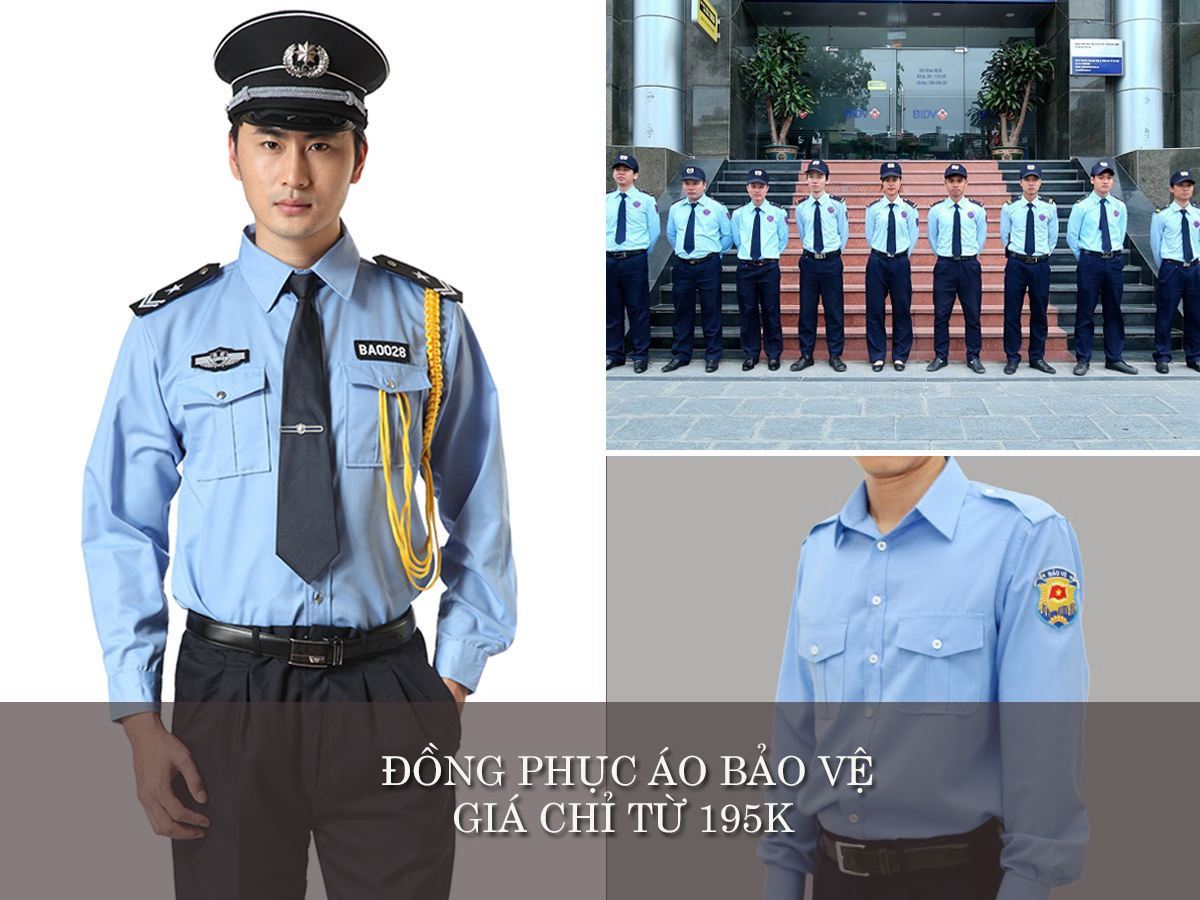 đồng phục bảo vệ bệnh viện đẹp