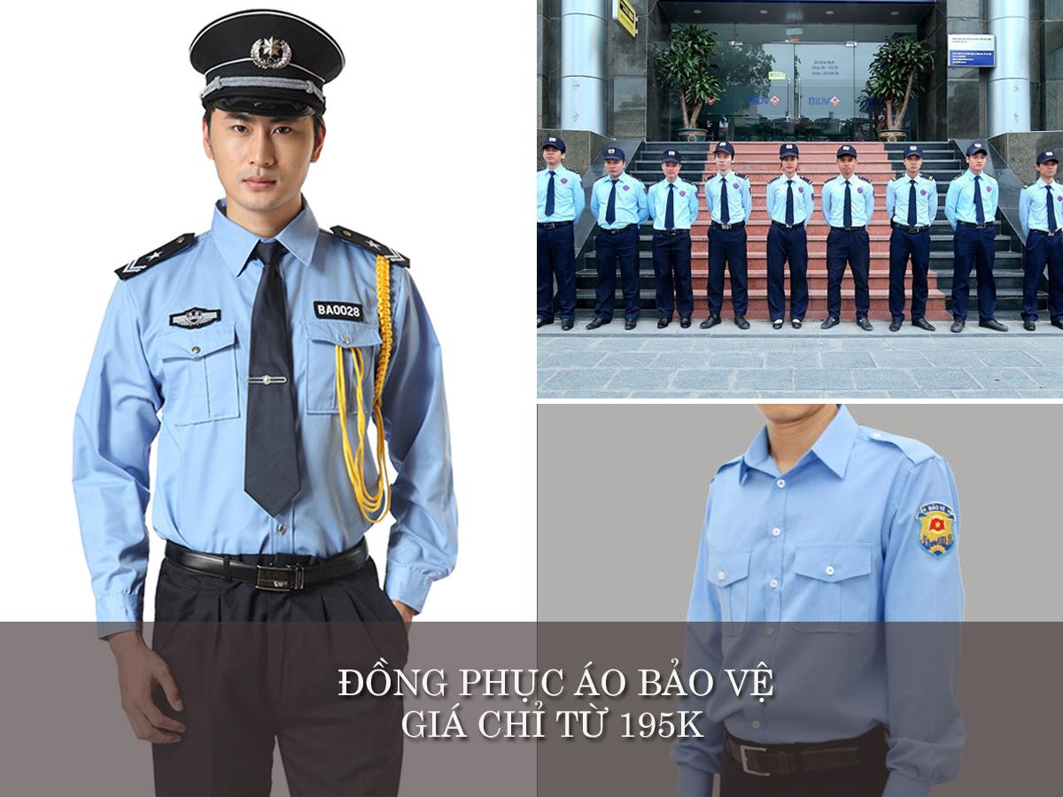 đồng phục bảo vệ may theo yêu cầu áo sơ mi