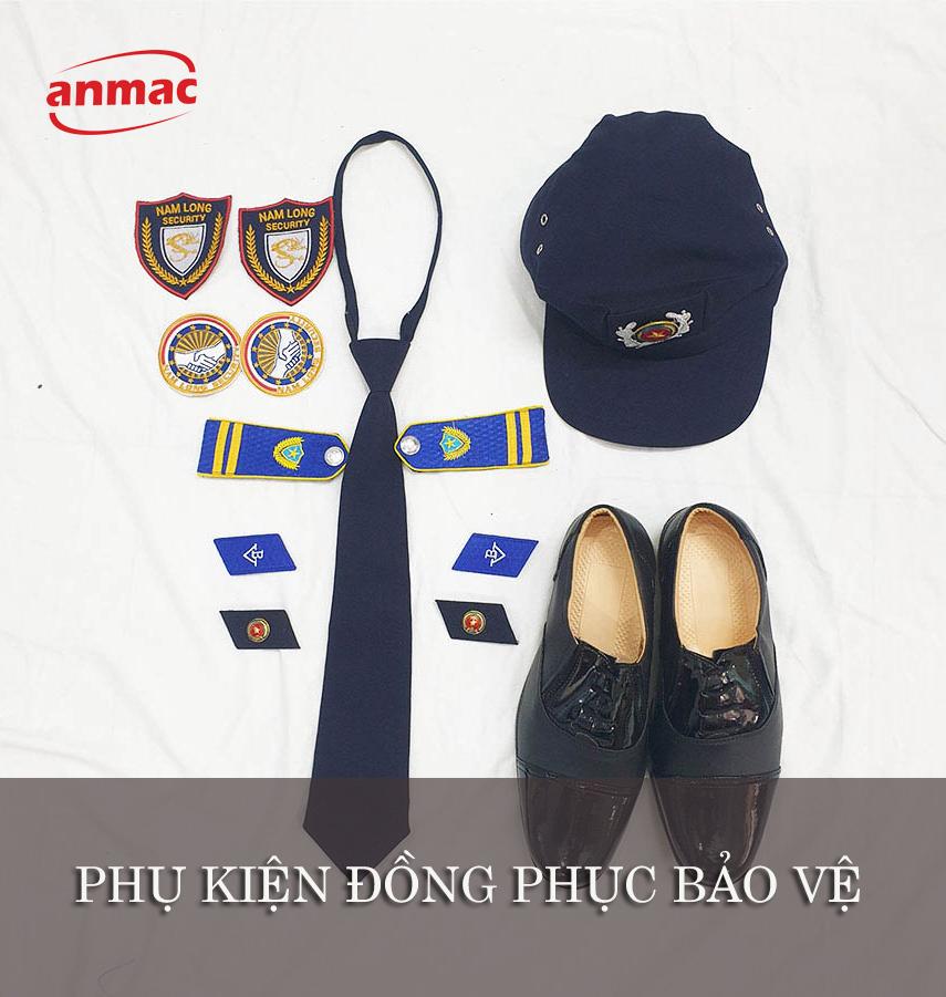 đồng phục bảo vệ may theo yêu phụ kiện
