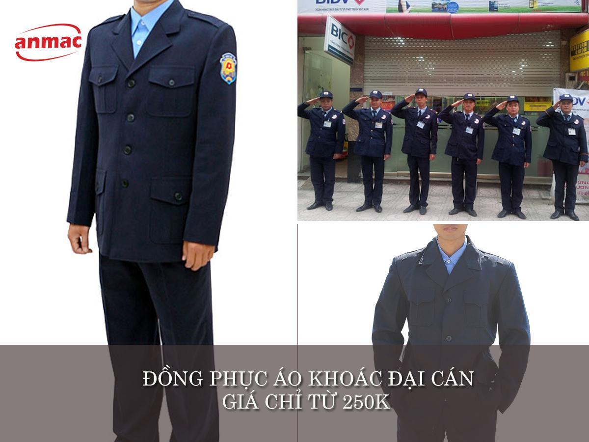 đồng phục bảo vệ may theo yêu cầu áo khoác đại cán