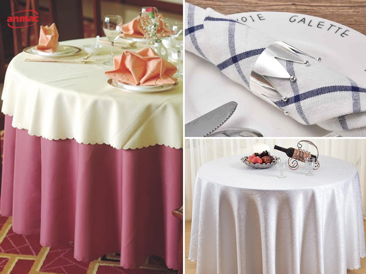 đồng phục khăn ăn khăn trải bàn khách sạn đẹp