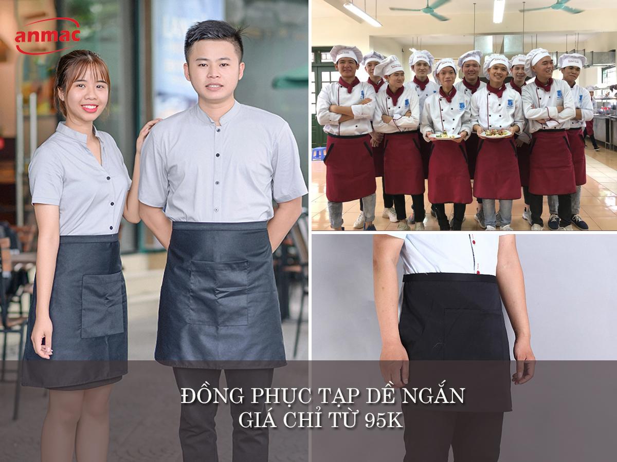 đồng phục tạp dề ngắn