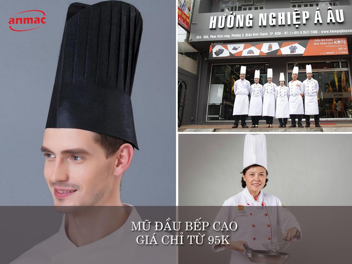 mũ đầu bếp cao